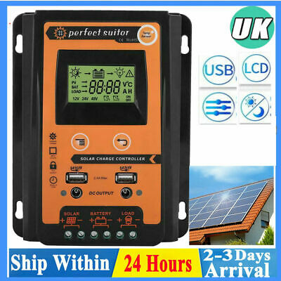 MPPT Solar Charge Controller 12/24V  30A Panel Battery Regulator LCD Display Tr • 19.45£