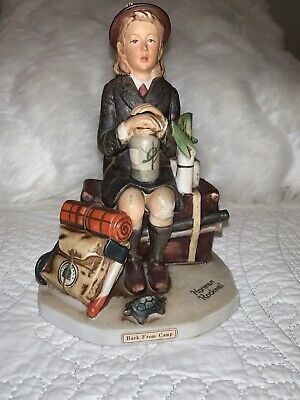 $ CDN30.83 • Buy Dave Grossman BACK FROM CAMP Saturday Evening Post Norman Rockwell Figurine