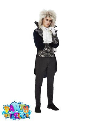 Adult Baroque Goblin King Costume Labyrinth David Bowie Mens Fancy Dress Outfit • 25.49£