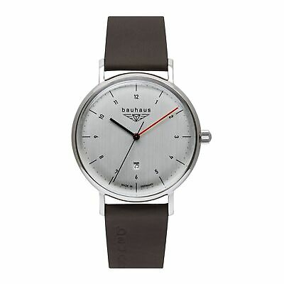 Bauhaus 2140-1 Silver Tone Dial With Date Wristwatch • 189£