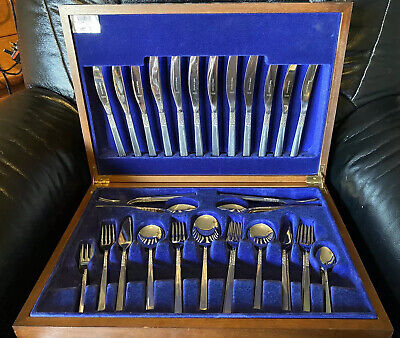 Vintage Viners Of Sheffield Cutlery Stainless Steel 62 Piece Set • 100£
