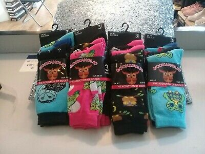 £5.50 • Buy 6 Pairs ASSORTED COLOURS Novelty OWLS Design  Socks Shoe Size 4-7