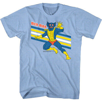 $21.50 • Buy Masters Of The Universe Mer-Man Retro Stripes Men's T Shirt Squidish Rex Aquatic