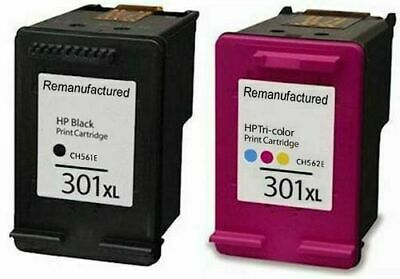 Black & Tri-Colour 301XL Ink Cartridges For Use With HP Printers Deskjet 2542 • 12.99£