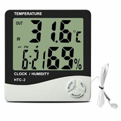 Hydroponics Hygrometer Large Thermometer With Probe Grow Room Grow Tent Digital • 15.50£