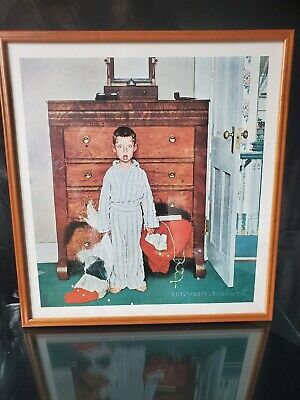 $ CDN48.71 • Buy Norman Rockwell The Truth About Santa Print Approximately 19 X 21 Un-framed