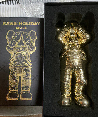 $1350 • Buy KAWS Holiday Space Chrome Gold RARE Limited Bearbrick NIB NEW, IN HAND!
