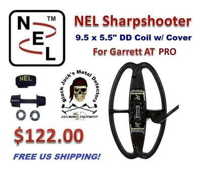 Nel Sharpshooter 9.5 X 5.5 DD Coil   Garrett AT PRO   Free Coil Cover   Auth Dlr • 87.26£