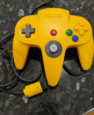 AU59 • Buy Nintendo 64 Controller Solid Yellow Genuine N64 Controller Firm Stick