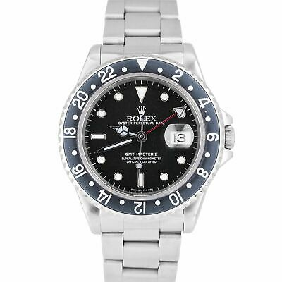 $ CDN12143.08 • Buy 1998 Rolex GMT-Master II 40mm Stainless Steel Black 40mm PATINA Watch 16710 N