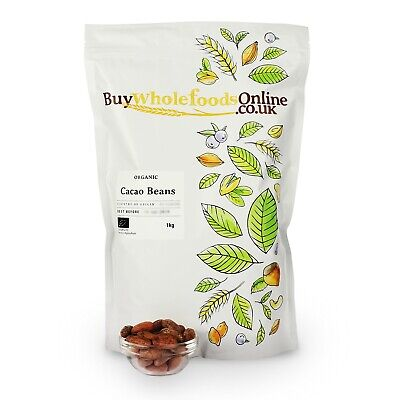 £16.87 • Buy Organic Cacao Beans 1kg | Buy Whole Foods Online | Free UK Mainland P&P