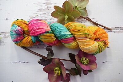 AU23 • Buy Hand Dyed Hello Parker Paint Box Handpaints Knitting Yarn X 1 Skein