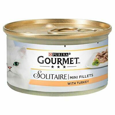 Solitaire Wet Cat Food Premium Fillets With Turkey In Sauce 85 G Pack Of 12 UK • 11.28£