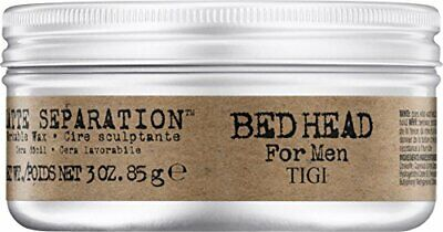 NEW Bed Head For Men By Tigi Matte Separation Mens Hair Wax For Firm Hold 85 G • 6.28£
