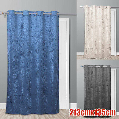 £8.99 • Buy Thermal Door Curtain Prevents Winter Heat Loss Reduces Draughts Self Lined Crush