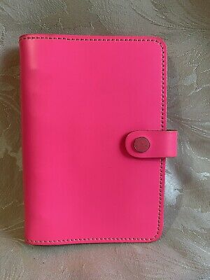 The Original Personal Filofax Organiser - Neon / Hot Pink - Genuine Leather  • 34.99£