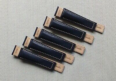 Genuine Leather Padded Deployment Watch Strap 22-18mm Ink Blue • 4.50£