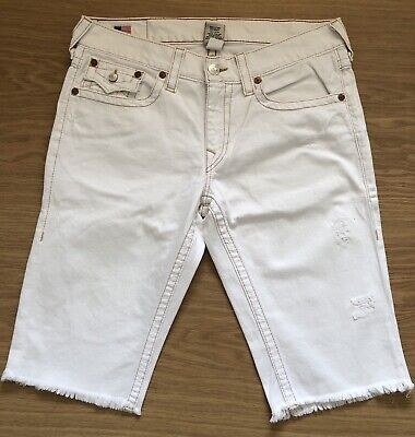 Once Worn Men's Vintage True Religion Denim Shorts. White. Waist 36. RRP £199 • 60£