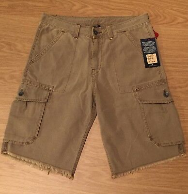 BNWT Men's True Religion Denim Cargo Shorts. Waist 34. RRP £169 • 85£