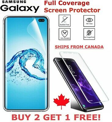 $ CDN2.49 • Buy For Samsung Galaxy S20 Ultra S10 S8 S9 Plus Note Curved Clear Screen Protector