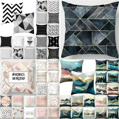 Geometric Printed Cushion Cover Soft Home Sofa Pillow Case 18 Inch / 45x 45 Cm • 5.19£