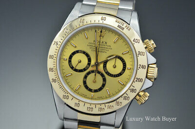 $ CDN16079.91 • Buy Rolex Daytona Zenith Stainless Steel & 18K Yellow Gold Champagne Watch 16523