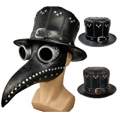 Halloween Costume Steampunk Plague Doctor Bird Hat Cosplay Carnival Party Props • 11.58£