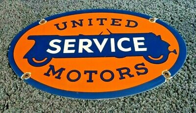 $ CDN186.18 • Buy United Motor Service Porcelain Vintage Style Gasoline & Oil Chevy Auto Sign
