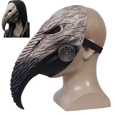 Steampunk Plague Doctor Bird Mask Halloween Party Costume Carnival Fancy Dress • 9.02£