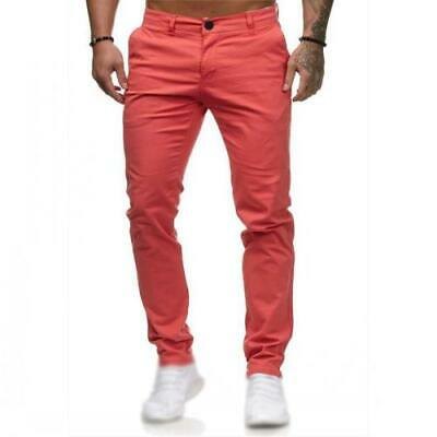 $ CDN47.02 • Buy Men's Slim Fit Casual Western Style Pants Outdoor Straight Trousers Skinny New D