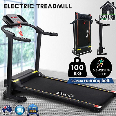 AU832.31 • Buy Electric Treadmill Everfit Home Gym Machine Exercise Fitness Compact Walking Run