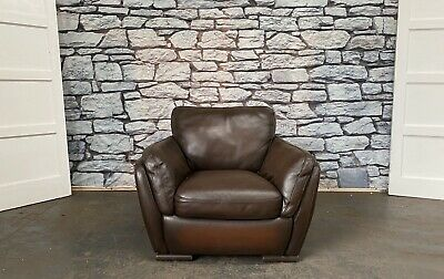 Vintage Marks & Spencer Chesterfield Ranch Brown Leather Armchair .WE DELIVER • 229£