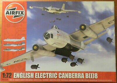 1/72 Canberra B(I)8, 1/72 Scale Plastic Model Aircraft Kit By Airfix • 30£