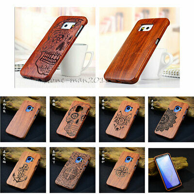$ CDN17.73 • Buy Genuine Wood Bamboo Phone Fitted Case Cover For Samsung Galaxy S7 Edge S8 S9+