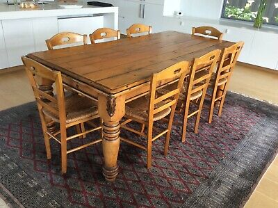 AU999 • Buy Dining Table + 8 Chairs French Provincial/country Style