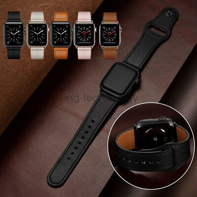 AU22.99 • Buy Genuine Leather IWatch Series 6 5 4 3 Strap For Apple Watch Band 40/44mm 38/42mm