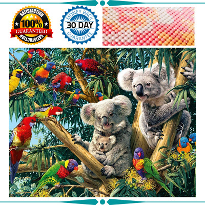 AU17.96 • Buy Cross Stitch Art 5D Diamond Painting Kits Rhinestone Embroidery Wall Decor Koala