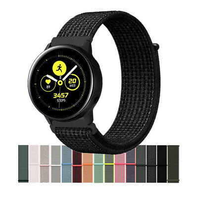 AU11.99 • Buy Woven Nylon Sport Loop Wrist Watch Band For Samsung Galaxy Watch Active /2 Strap