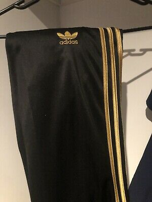 AU19.50 • Buy Adidas Track Pants... Black And Gold Size S