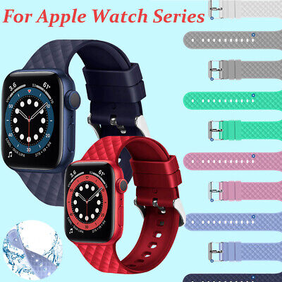 $ CDN6.88 • Buy For Apple Watch Series SE 6 5 4 3 2 38 40 42 44mm Soft Silicone Sport Band Strap