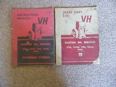 Ruston & Hornsby VTH, VTHZ, VSH, VSHZ, Oil Engines - Instructions & Parts • 19.99£