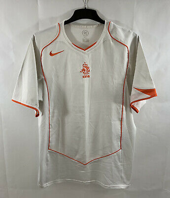 Holland Away Football Shirt 2004/06 Adults Large Nike B970 • 39.99£