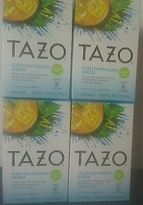 Tazo Tea Bag, Iced Lemon Grass Green, 6 Count, Pack Of 4 Boxes  • 12.59£