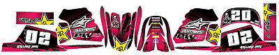 $ CDN36.64 • Buy Fits Yamaha PW 50 . FREE Name & No. Custom Decal Graphics Sticker Kit. PINK
