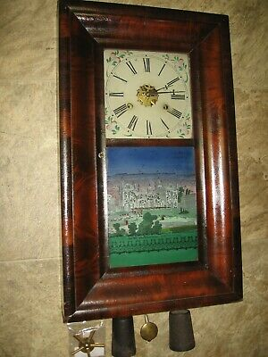 £88.52 • Buy American Clock Co. 30 Hour W/Bushed Weights/Key- New Wellington College Print