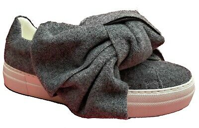 = Joshua Sanders Felt Bow SlipOn Sneakers Trainer Casual Womens Shoes Made Italy • 79.99£