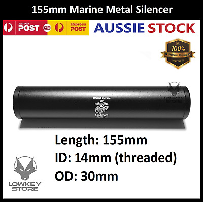 AU38.99 • Buy Upgrade 155mm Marine Metal Silencer For Gen8 J9 J10 ACR M4A1 Gel Blaster Toy
