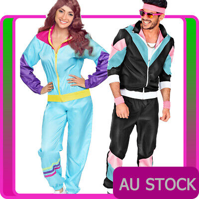 AU76.98 • Buy Couple 80s Shell Suit Tracksuit Costume 1980s Height Of Fashion Retro Disco
