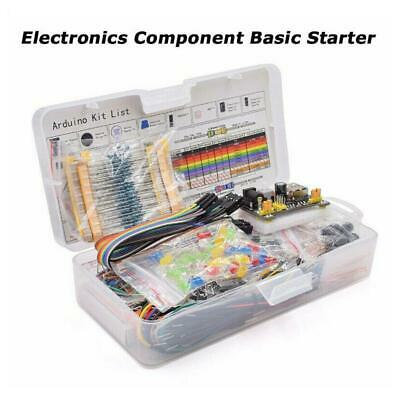 Electronic Component Starter Kit Wires Breadboard Buzzer Resistor Transistor LED • 10.97£