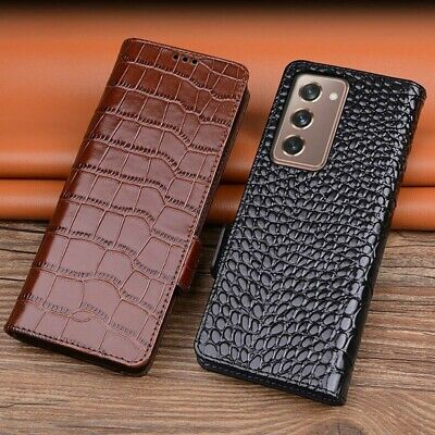 AU61.38 • Buy Book Style Flip Genuine Leather Wallet Case Cover For Samsung Galaxy Z Fold 2 5G